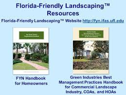 principles of florida friendly landscaping john j pipoly iii