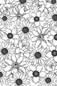 free sketch flowers 1