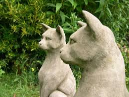 classic pair of cats on plinths berkshire stonewareberkshire
