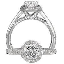 platinum halo engagement rings 66ct ritani endless collection platinum halo