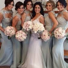 grey bridesmaid dresses mermaid neck sweep grey bridesmaid dress with