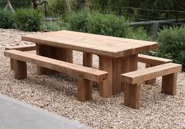 Wooden Outdoor Table Diy by Incredible Rustic Wooden Garden Furniture Patio Furniture That