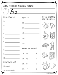 daily phonics review sheets works with or without scott foresman