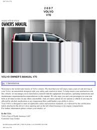 volvo v70 2007 user manual airbag seat belt