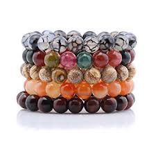 bracelet stone beads images 10mm onyx gem stone beads unisex bracelets stretch jpg