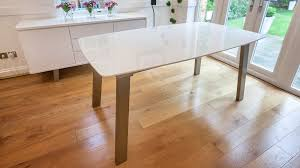 Extending White And Grey Gloss Dining Table Uk - White and wood kitchen table