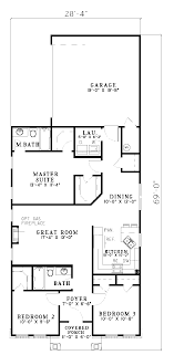 home plans for narrow lot home architecture hemistone narrow lot ranch home plan d house