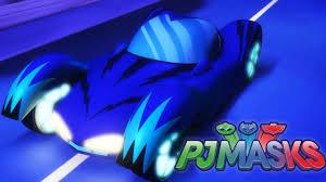 pj masks racing cars moonlight race gekko mobile cat car owl
