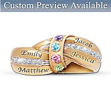 personalized birthstone rings a mothers embrace personalized birthstone ring
