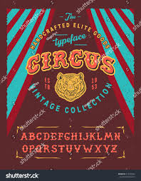 circus hand crafted retro vintage typeface stock vector 419395582
