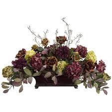 flower arrangements for home decor rose hydrangea dahlia and peony silk flower design floral home decor