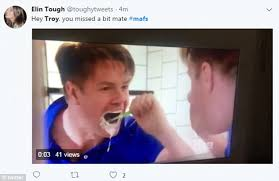 Brushing Teeth Meme - social media reacts to mafs troy brushing his teeth daily mail online