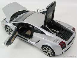 silver lamborghini autoart 12093 scale 1 12 lamborghini gallardo 2004 silver