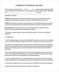12 client confidentiality agreement templates u2013 free sampleclient