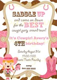 top 14 cowgirl birthday party invitations theruntime com