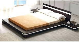 Wooden Platform Bed Frame Solid Platform Bed Frame Tall Tatami Platform Bed Frame Dark