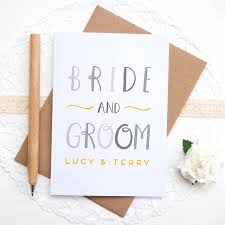 and groom cards personalised and groom card by joanne hawker