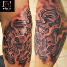 muecke timepiece clock tattoo by george muecke tattoos