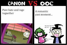 Invader Zim Memes - meme canonvsooc zim and dib by irunekagi on deviantart