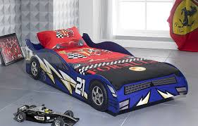 Kids Single Beds For Boys No 21 Blue Childrens Car Beds Boys Racing Blue Kids Car Bed Frame