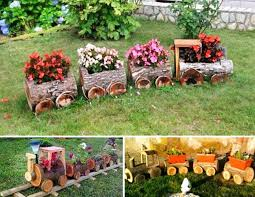 20 beautiful flower bed ideas for your garden trains yard art