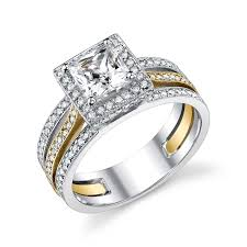 two tone engagement ring i love the 2 tone sets even though i