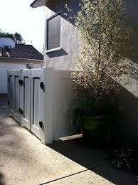 garbage can enclosures patio contemporary with cedar trim modern