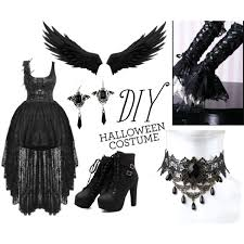 diy punk necklace images Gothic angel diy halloween costume polyvore jpg
