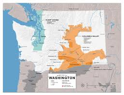 Oregon Ava Map by Detailed Map Of Wine Regions In Washington Usa Wine Posters