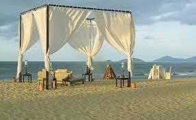 beach curtains sand set pillows camp chairs romance tabels