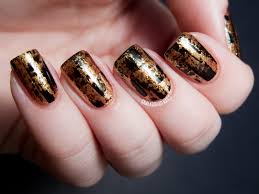 gold nail collection