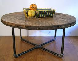 round industrial side table 30 diameter reclaimed wood spool coffee table reserved 320 00