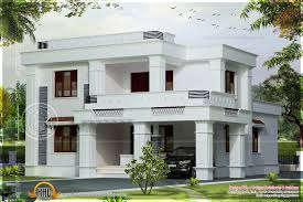 simple flat roof villa in 2042 square feet indian house plans