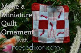 diy miniature quilt ornament