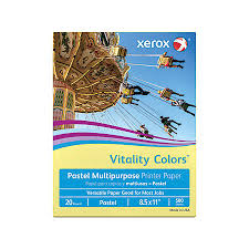 xerox vitality colors multipurpose printer paper letter size paper