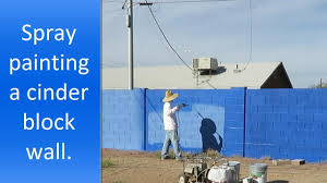 spray painting cinder block walls step by step youtube