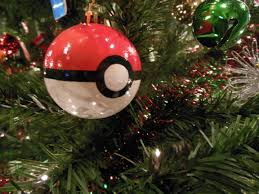diy pokeball ornament i made for my christmas tree last year time