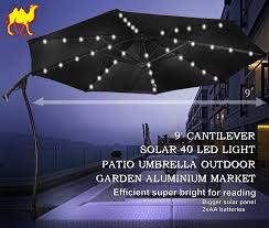 Rectangular Patio Umbrella With Solar Lights by Patio Umbrella Lights Led Home Design Ideas And Pictures