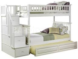White Bunk Bed With Trundle White Twin Bed With Trundle Beds Twin Full Bunk Beds With Stairs