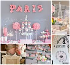 paris themed baby shower decorations best inspiration from
