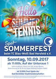 Sparkasse Bad Hersfeld Sommerfest U0026 Stadtmeisterschaften Finale Tennisclub Blau Weiß
