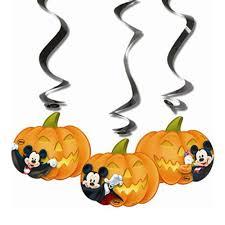 3 halloween disney mickey mouse party hanging cutout pumpkin
