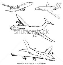 airplane sketch stock images royalty free images u0026 vectors