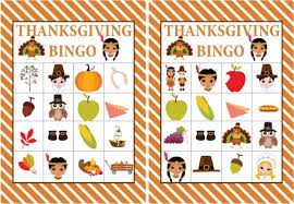 free printable thanksgiving bingo thanksgiving
