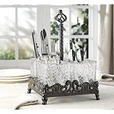amazon com buffet utensils caddy durable u0026 easy to serve black