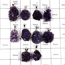 cbp895 10 pcs color ful amethyst druzy beautiful pendants 925