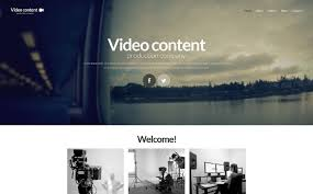 templates for video website video production website template 52335