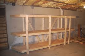 Wood Shelves Build by Basement Shelving Basements Ideas