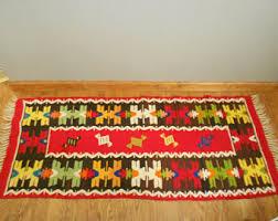 Zapotec Rug Paintings Vintage Mexican Rug Etsy