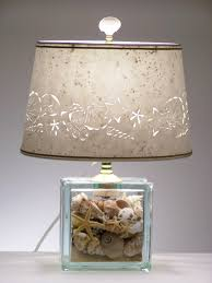 seashell glass block lamp seashell lamp shells beach